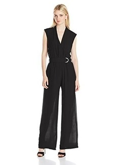 XOXO Junior's Contrast Mesh Back Jumpsuit