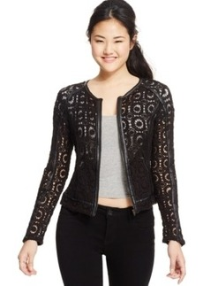 Xoxo Juniors' Crochet Lace Jacket