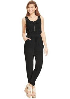 Xoxo Juniors' Crochet-Trim Jumpsuit