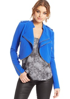 XOXO Juniors' Cropped Zipper Jacket