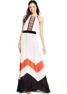 Xoxo Juniors' Embroidered Chevron Maxi Dress