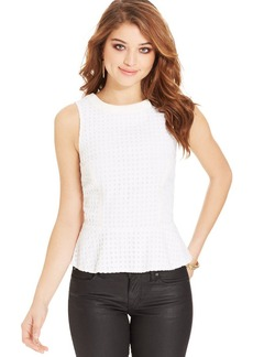 XOXO Juniors' Eyelet Peplum Top