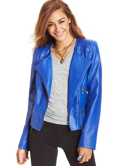XOXO Juniors' Faux-Leather Moto Jacket