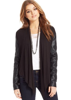 XOXO Juniors' Faux-Leather-Panel Jacket