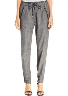 XOXO Juniors' Faux-Leather-Trim Drawstring Pants