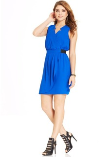 XOXO Juniors' Faux-Wrap Dress