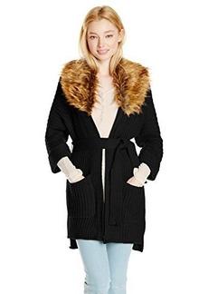 XOXO Juniors Fur Collar Coverup
