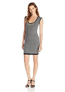 XOXO Juniors Hounds Tooth Embellished Neck Sweater Dress
