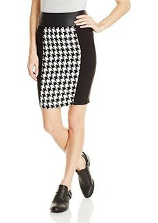 XOXO Juniors Houndstooth Skirt with Chain Trim