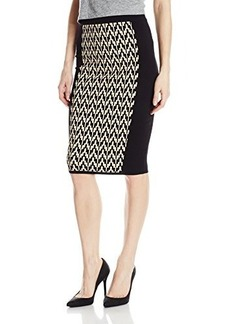 XOXO Junior's Jacquard Panel Midi Skirt