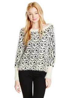 XOXO Juniors Leopard Eyelash Pullover Sweater