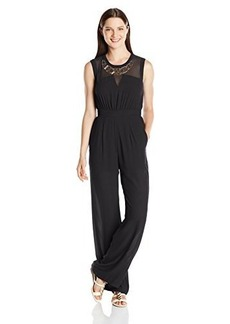 XOXO Juniors Mesh and Necklace Jumpsuit