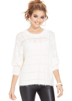 XOXO Juniors' Open-Knit Sweater