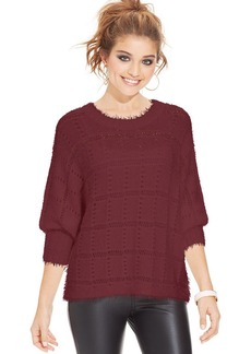 XOXO Juniors' Open-Knit Sweater