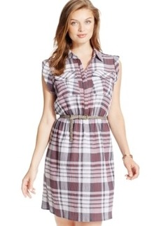 Xoxo Juniors' Plaid Belted Shirtdress