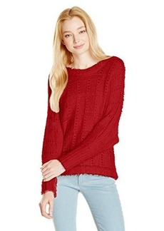 XOXO Juniors Pointelle Dolman Pullover Sweater