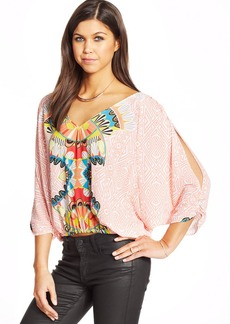 XOXO Juniors' Printed Batwing Top