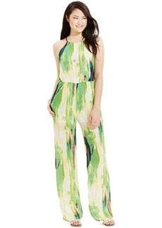 Xoxo Juniors' Printed Halter Jumpsuit