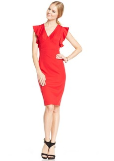 XOXO Juniors' Ruffled-Sleeve Sheath Dress