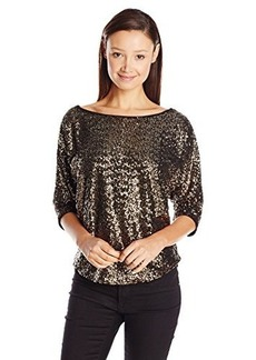 XOXO Juniors Sequin Dolman Sleeve Top