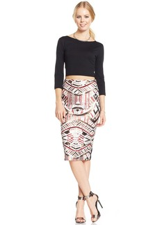 XOXO Juniors' Sequin Pencil Skirt