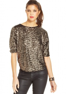 XOXO Juniors' Sequin Top