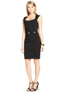 Xoxo Juniors' Sleeveless Belted Sheath Dress