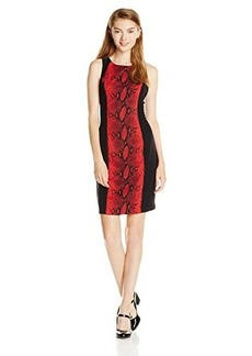 XOXO Juniors Snake Print Sheath Dress