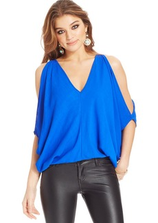 XOXO Juniors' Split-Sleeve Top