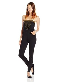 XOXO Juniors Strapless Jumpsuit with Gold Trim