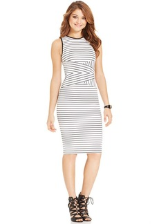 XOXO Juniors' Striped Bodycon Dress