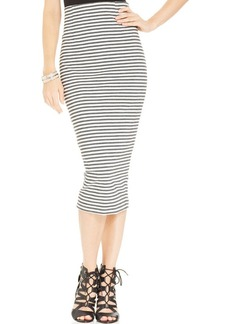 XOXO Juniors' Striped Midi Skirt