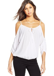 XOXO Juniors' Three-Quarter-Sleeve Blouson Top