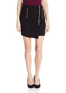 XOXO Juniors Zip Front Quilted Mini Skirt