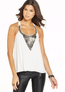 XOXO Metallic Applique High-Low Top
