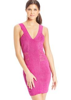 XOXO Metallic Banded Bodycon Dress