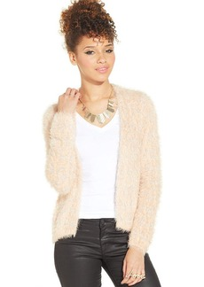 XOXO Juniors' Metallic Eyelash-Knit Cardigan