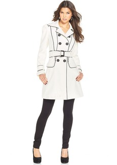 XOXO Piped Belted Trench Coat