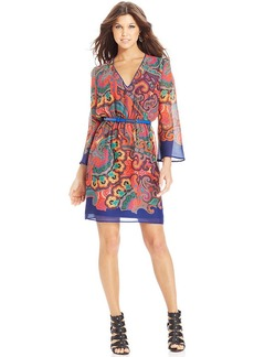 XOXO Printed Belted Dress