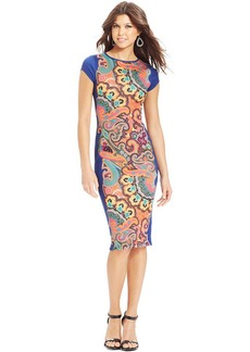XOXO Printed Midi Dress