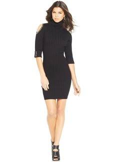 XOXO Ribbed Turtleneck Dress