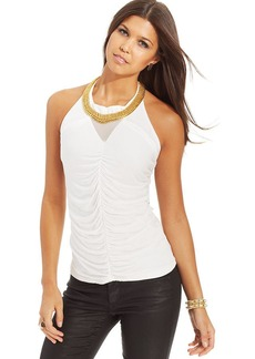 XOXO Ruched Applique Top