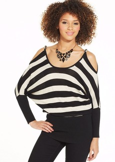 XOXO Striped Dolman-Sleeve Top
