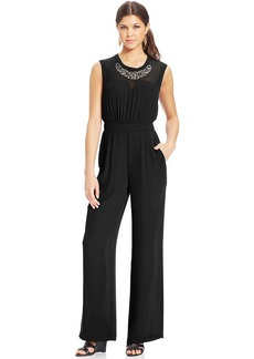 XOXO Wide-Leg Illusion Jumpsuit