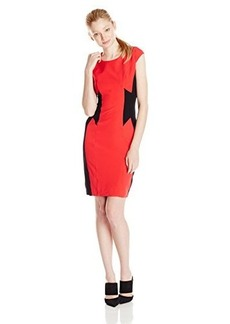 XOXO Women's Contrast Panel Dress