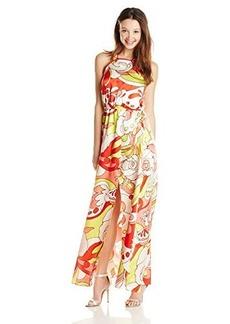XOXO Women's Cross-Back Sleeveless Maxi Dress