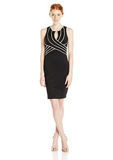 XOXO Women's Fitted V-Neck Dress