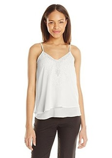 XOXO Women's Lace Trim Cami