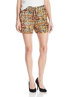 XOXO Women's Printed Soft Tie Front Short