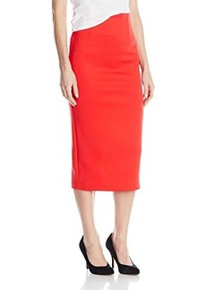 XOXO Women's Scuba Tailored Midi Pencil Skirt